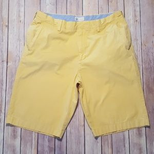 J. Crew Khaki Chino Shorts Yellow Men's Size 34